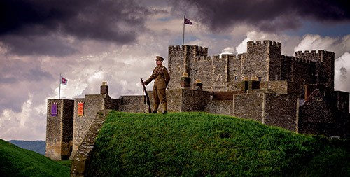 Dover Castle with soldier