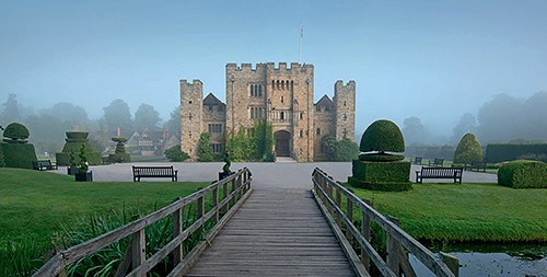 Hever Castle in the mist
