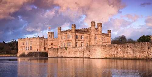 Leeds Castle at sunset