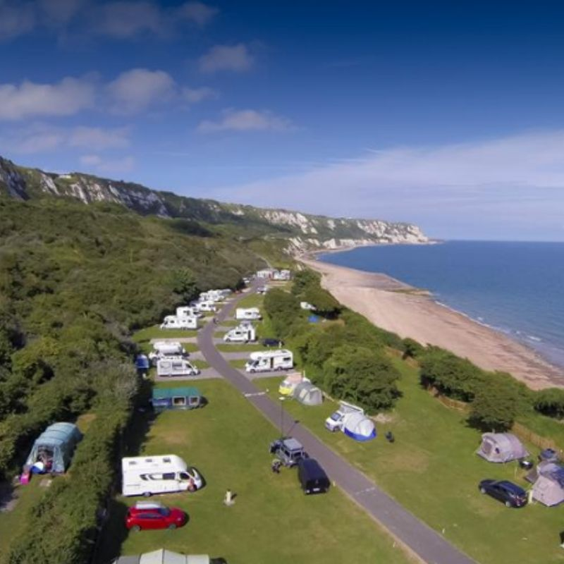 tent camping in sea beach in kent